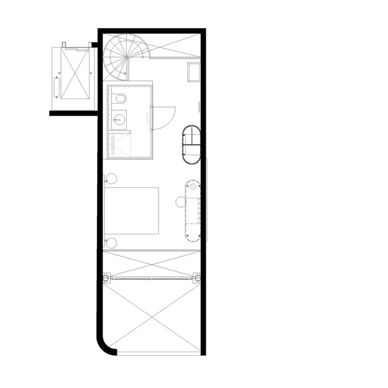 Gebouw A-suite-verdieping